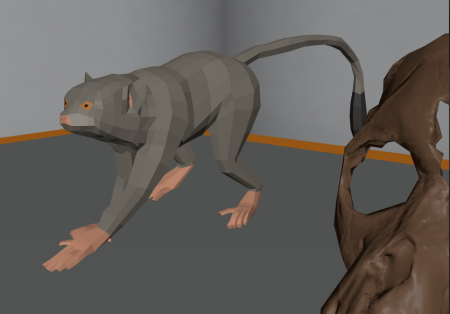 Smoother and more detailed model of a squirrel-like primate